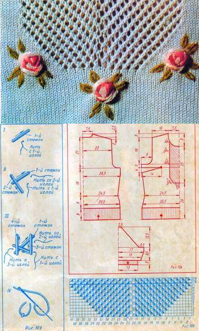 Вязанная спицами кофточка с коротким рукавом