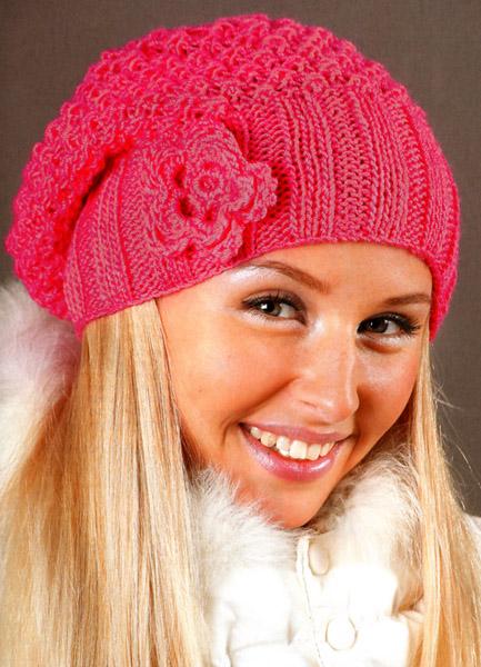 схема вязания зимних шапок