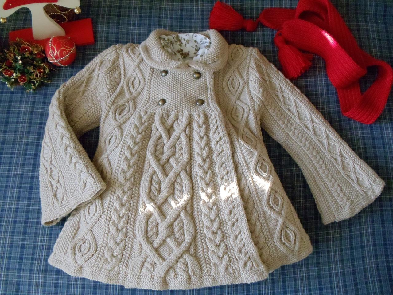 Вязание спицами для детей пальто для девочек 2