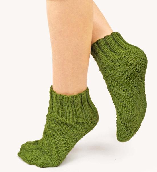 Вязание носков и следков с ажурным узором
