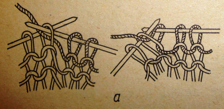 Изнаночная петля вязание фото