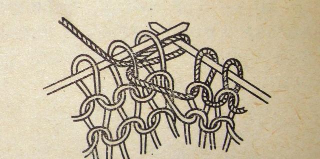 вязание петель вместе