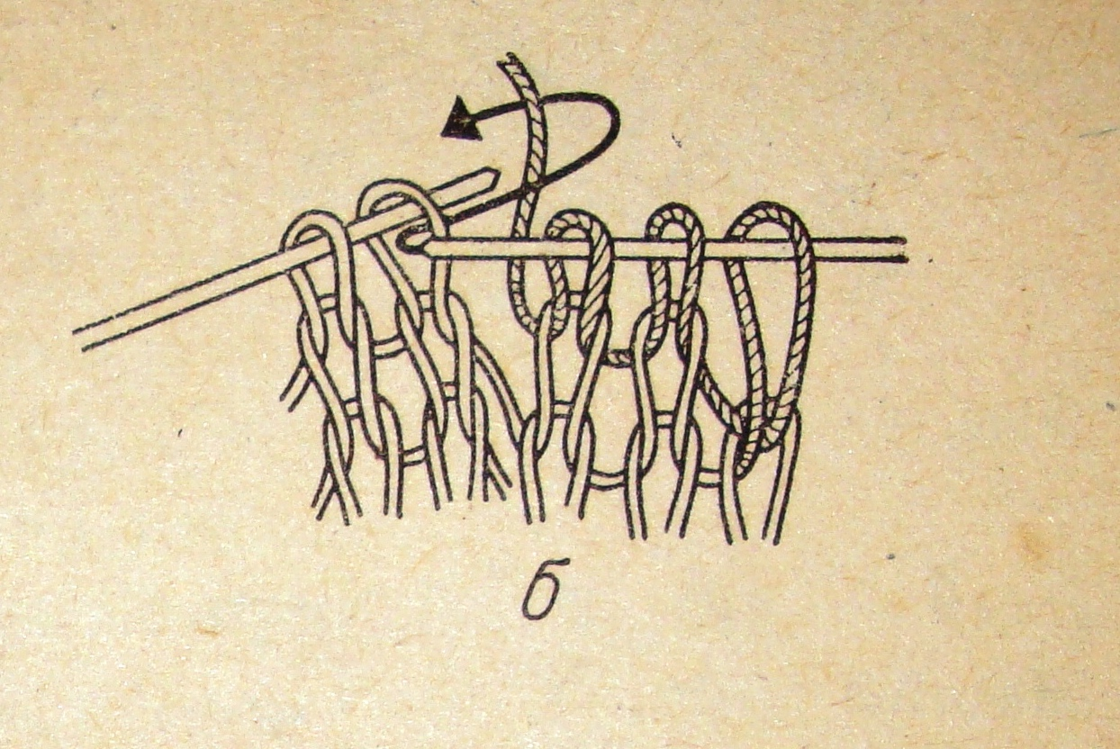 Вязание наклонные петли 87
