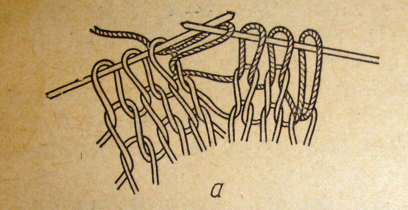 Схема вязания изнаночная лицевая 68
